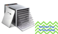 10-Tray Stainless Steel Food Dehydrator