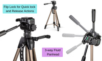 160cm Dual Bubble Level Camera Tripod