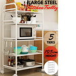 5 Tier Kitchen Trolley Storage Shelves