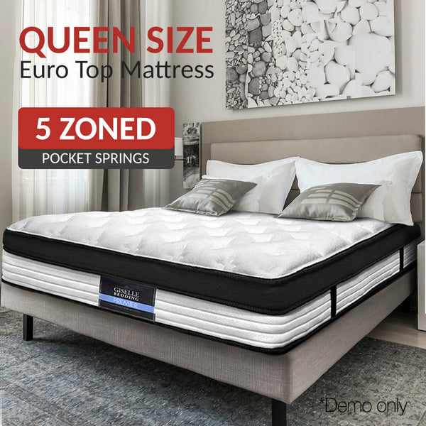 Queen Size Premier Euro Pocket Spring Top Foam Mattress