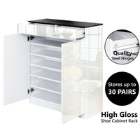 High Gloss Shoe Organizer Cabinet