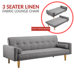 Linen Fabric Lounge Sofa Bed
