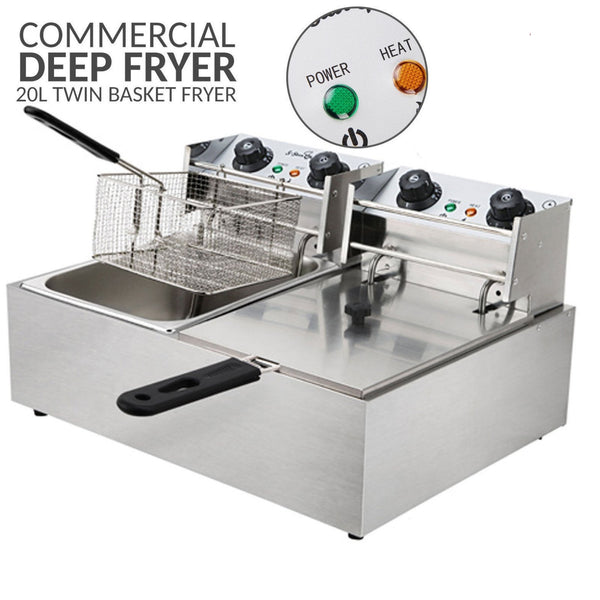 Commercial Double Deep Fryer