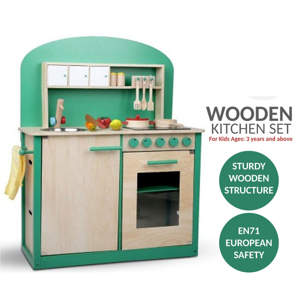 Wooden Kitchen Play Set