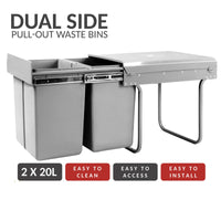 Twin Pull Out Bin