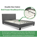 Double Size Fabric Bed Frame