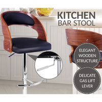 Wooden Padded Kitchen Bar Stool
