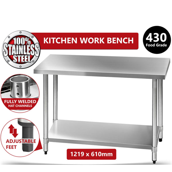 Stainless Steel Kitchen Work Bench