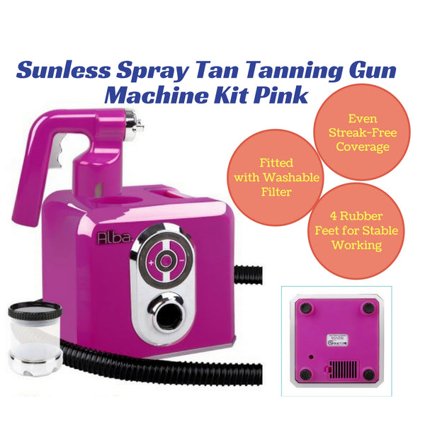 Sunless Airbrush Spray Tan Gun Kit - Pink