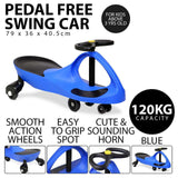 Kids Pedal Free Swing Car