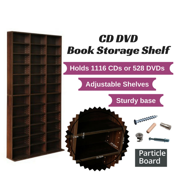 CD DVD Storage Shelf