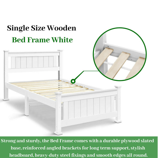 Single Size Wooden Bed Frame