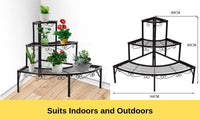 3 Tier Shelves Metal Plant Stand