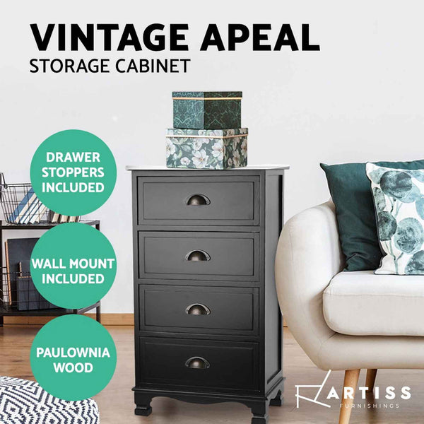 Artiss 4-drawer Storage Cabinet