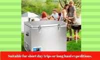 70L Portable  2-in-1 Fridge & Freezer