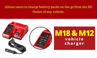Milwaukee M18 & M12 Automotive Charger