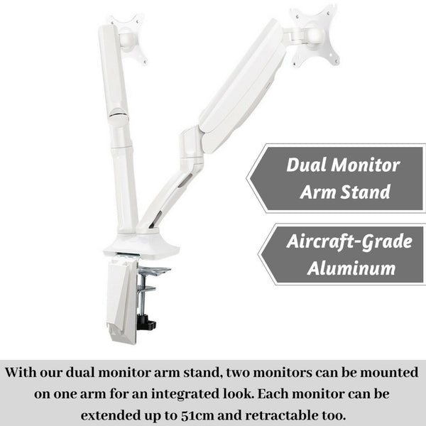 Dual Arm Monitor Mount