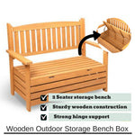 Wooden Bench Storage