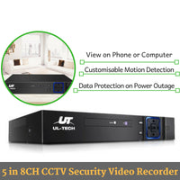 5 in 8CH CCTV Security Surveillance Video Recorder