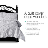 Giselle Bedding King Size Quilt Cover Set Grey