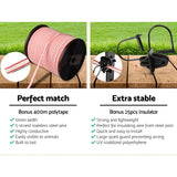 5km Solar Electric Fence Energiser Charger with 400M Tape