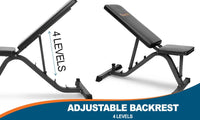 Adjustable Inclined FID Gym Bench