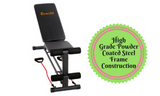 Adjustable F.I.D Bench with Resistance Bands - 118cm