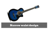 38 Inch Wooden Acoustic Guitar (Blue)