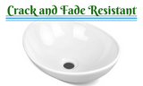 Ceramic Oval Basin - White