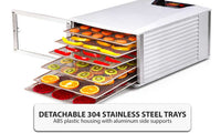 6-Tray Stainless Steel Food Dehydrator