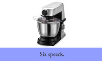 1200W Deluxe Stand Mixer Countertop (Silver)