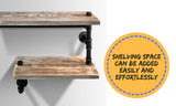 3-Level DIY Rustic Industrial Floating Pipe Shelf
