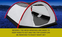 4-Person Pop-up Dome Tent - Navy & White