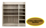 2-door Multipurpose Shoe Cabinet - Wood