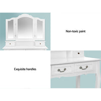 Artiss Dressing Table with Mirror White