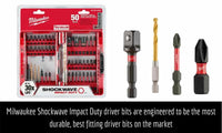 Milwaukee 50pc Impact Drill Bit Set