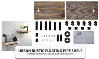 2-level DIY Rustic Industrial Floating Pipe Shelves