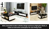 High Gloss Coffee Table & TV Cabinet