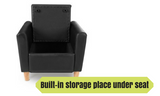 Kids Single Couch Chair Black