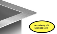 450 x 300mm Stainless Steel Kitchen Laundry Sink