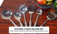 7 Piece Kitchen Cooking Utensil Set
