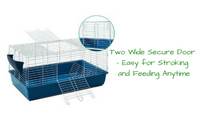 Animal Pet Cage with Stand & Feeder