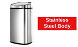 58L Stainless Steel Rubbish Bin