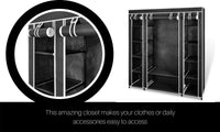 Portable Closet Cloth Storage Wardrobe Rack