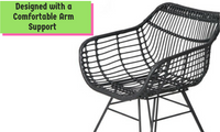 2 Wicker Dining Chairs Black