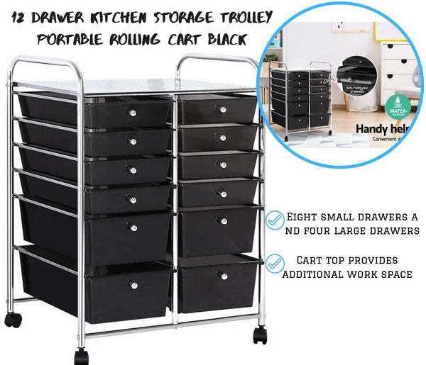 12 Drawer Hairdresser Trolley