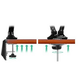 Dual Arm Monitor Desk Arm Stand - Black