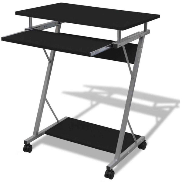 Computer Office Desktop Table with Pullout Tray