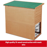 Wooden Pet Cage Enclosure Hutch with 2-Storey Run
