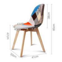 Chairs Fabric Seat Home Furniture